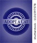 adopt a cat emblem with jean... | Shutterstock .eps vector #1131597578