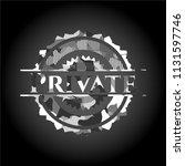 private grey camo emblem   Shutterstock .eps vector #1131597746