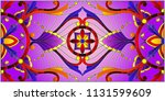 illustration in stained glass... | Shutterstock .eps vector #1131599609