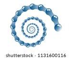 spiral of blue glassy drops on... | Shutterstock .eps vector #1131600116