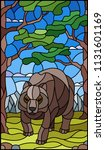 illustration in stained glass... | Shutterstock .eps vector #1131601169