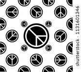 peace icon seamless pattern... | Shutterstock .eps vector #1131601346