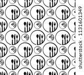 dish fork knife spoon icon... | Shutterstock .eps vector #1131601349