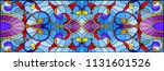 illustration in stained glass... | Shutterstock .eps vector #1131601526