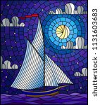 illustration in stained glass... | Shutterstock .eps vector #1131603683
