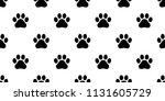 dog paw seamless vector... | Shutterstock .eps vector #1131605729
