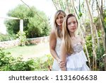 mother and teenager daughter...   Shutterstock . vector #1131606638