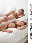 beautiful mother and daughters...   Shutterstock . vector #1131606644