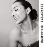 black and white portrait of...   Shutterstock . vector #1131606668