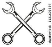 vintage crossed wrench  spanner ...   Shutterstock .eps vector #1131609554