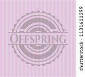 offspring pink emblem. vintage.   Shutterstock .eps vector #1131611399