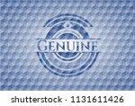 genuine blue emblem or badge... | Shutterstock .eps vector #1131611426