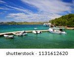 boats in nature park telascica. ...   Shutterstock . vector #1131612620