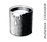 vintage paint can hand drawing... | Shutterstock .eps vector #1131616634