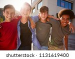portrait of male high school... | Shutterstock . vector #1131619400