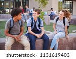 group of high school students... | Shutterstock . vector #1131619403