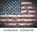 old american flag | Shutterstock .eps vector #113162248