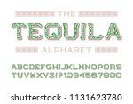 tequila alphabet with numbers... | Shutterstock .eps vector #1131623780