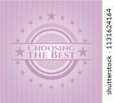 choosing the best pink emblem   Shutterstock .eps vector #1131624164
