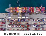 the container loading on the... | Shutterstock . vector #1131627686