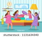 girls friendship sleepover...   Shutterstock .eps vector #1131634340