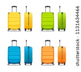 colorful set of modern plastic... | Shutterstock .eps vector #1131634466