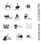 vector hand drawn set... | Shutterstock .eps vector #1131634796