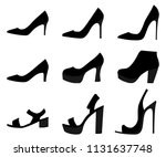 high heels woman shoes isolated ... | Shutterstock .eps vector #1131637748
