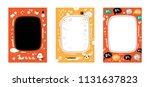 frame set for baby's photo... | Shutterstock .eps vector #1131637823