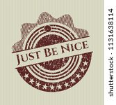 red just be nice grunge seal | Shutterstock .eps vector #1131638114