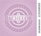 bachelor pink emblem   Shutterstock .eps vector #1131638183