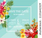 wedding invitation template...   Shutterstock .eps vector #1131642329