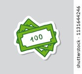 bank note sticker doodle icon | Shutterstock .eps vector #1131644246