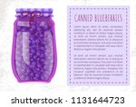 canned blueberries or... | Shutterstock .eps vector #1131644723