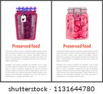 preserved food poster canned... | Shutterstock .eps vector #1131644780