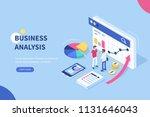 business analysis  concept... | Shutterstock . vector #1131646043