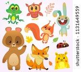 cartoon forest animal... | Shutterstock .eps vector #1131649559