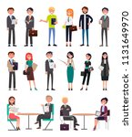 business people in office... | Shutterstock .eps vector #1131649970