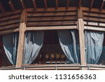 roll blinds to protect sunlight ... | Shutterstock . vector #1131656363
