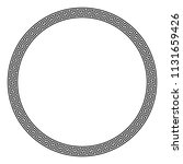 circle frame made of seamless... | Shutterstock .eps vector #1131659426