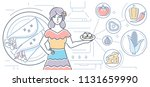 mexican food   colorful line... | Shutterstock .eps vector #1131659990