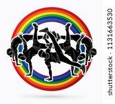 group of people dancing ...   Shutterstock .eps vector #1131663530