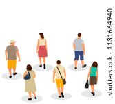 isolated  silhouette people go | Shutterstock .eps vector #1131664940