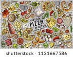 colorful vector hand drawn... | Shutterstock .eps vector #1131667586