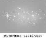 white sparks and golden stars... | Shutterstock .eps vector #1131673889