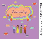 happy friendship day. people of ...   Shutterstock .eps vector #1131673910