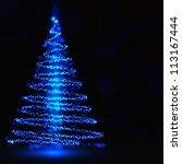 christmas tree | Shutterstock .eps vector #113167444