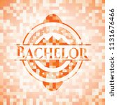 bachelor orange mosaic emblem | Shutterstock .eps vector #1131676466