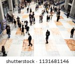 the crowd is blurred  a lot of... | Shutterstock . vector #1131681146