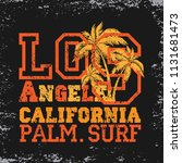 los angeles palm surf ... | Shutterstock .eps vector #1131681473